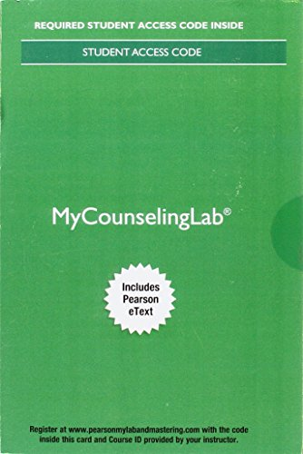 MyLab Counseling with Pearson eText -- Access Card -- for Theories of Counseling and Psychotherapy: A Case Approach (4th Edition)