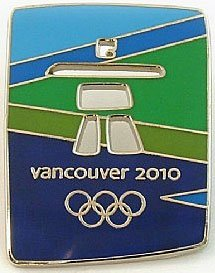 Vancouver Pins 2010 Olympic (Vancouver 2010 Olympics-Color Stone Pin)