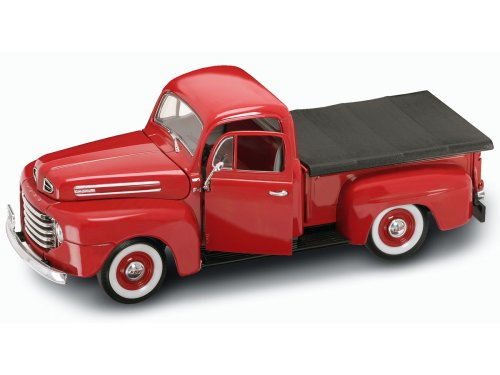 Ford Truck Pickup F1 - Yat Ming Scale 1:18 - 1948 Ford F-1 Pick Up Truck with Flatbed Cover