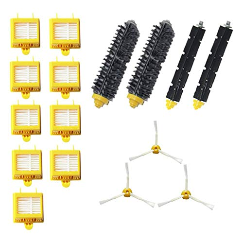 DEH Replacement Parts Kit Hepa Filters for Irobot Roomba 700 Series Vacuum - Yellow-Black