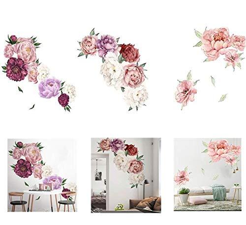 Peony Flowers Wall Decal, Hydrangea Vinyl Wall Sticker,Blooming