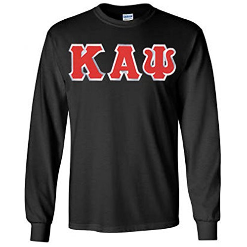 Kappa Alpha Psi Lettered Long Sleeve Large Black