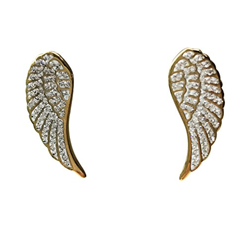 (J.Shine Angel Wing Gold Tone Stainless steel Earings for Women GE624 gold)