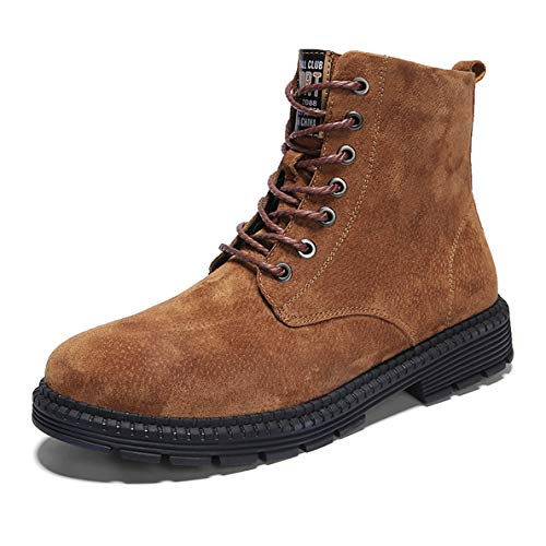 (GanQuan2018 Men's Martin Boots Steel Toe Lace Up Fashion Winter Hiking Bootie)