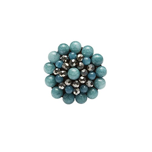 sky-blue-round-stone-beads-ring-with-stone-bead-crystal-bead-wax-cotton-string-ring