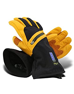 Volt Heated Work Gloves - Leather Work Gloves - Rechargeable battery heated gloves that will help keep your hands warm while you work in freezing cold conditions.