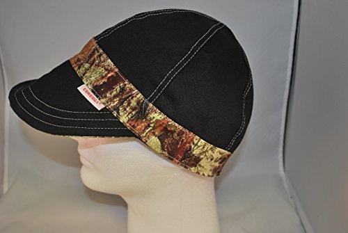 Comeaux Caps Reversible Welding Cap Black/Camo Banded Size 7 1/2