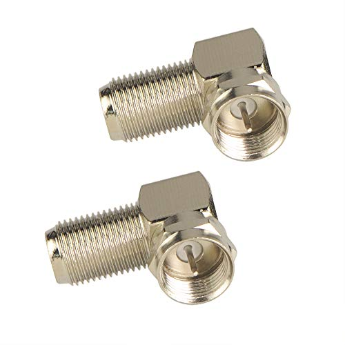 VCE (2-Pack Right Angle F-Type Coaxial RG6 Adapter
