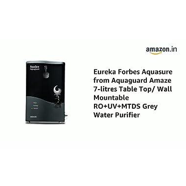 Eureka Forbes AquaSure from Aquaguard Amaze RO+UV+MTDS 7L Water Purifier (Grey) 9