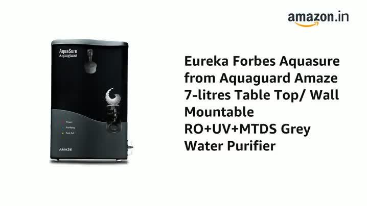 Eureka Forbes AquaSure from Aquaguard Amaze RO+UV+MTDS 7L Water Purifier (Grey) 2