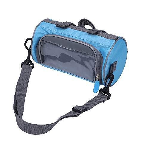- ZUKKA Bike Handlebar Bag,Adjustable and Removable Shoulder Strap Waterproof Bicycle Front Storage Bag with Transparent Pouch Touch Screen, Large-Capacity Cycling Front Pack