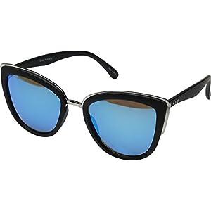 Quay Women's My Girl Sunglasses, Black/Blue Mirror, One Size