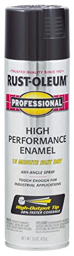 Gloss Black Spray - Rust-Oleum 7579838-6 PK Professional 7579838 High Performance Enamel Spray Paint, 15 oz, Gloss Black, 6-Pack