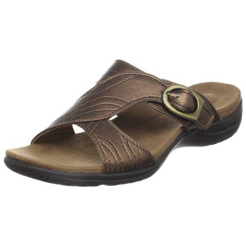 Easy Street Women's Torch Slide Sandal,Bronze Tumbled,6 W US ()