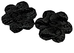 SoarDream Petals For Breast Nipple Covers Style - 5 Pairs Black