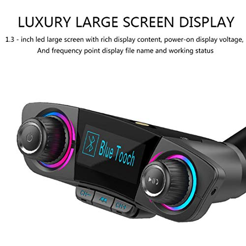 Price comparison product image Car Kit Handsfree Wireless Bluetooth FM Transmitter LCD MP3 Player USB Charger (Black)