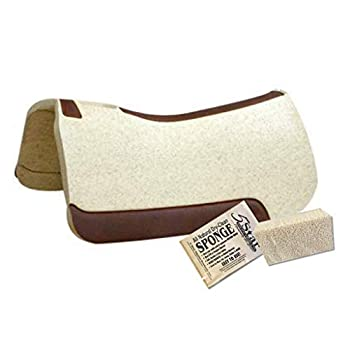 Image of Saddle Pads 5 Star - 1 1/8' Extra Thick Rancher Western Saddle Pad - The Rancher Performer Full Skirt 32' x 32' This Horse Saddle Pad is Great for Ropers and Ranchers. Free Sponge Saddle Pad Cleaner Included