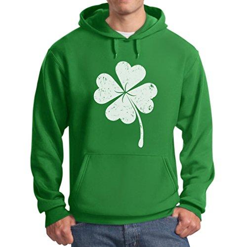 Hoodie Day - TeeStars Men's - Faded Shamrock Clover St. Patrick's Day Hoodie Large Green