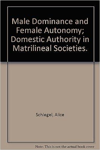 Buy Male Dominance and Female Autonomy
