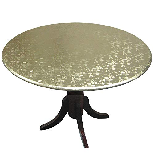 Gold Jewel Top Fitted Table Covers for Special Occasions, Holidays, Events, Celebrations, Party, Birthday, Anniversary, Wedding, Christmas, New Year, Graduation, etc. Doubles as Protective Table Pad. ()