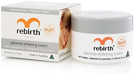 Rebirth Placenta Whitening Cream with Wakamine, Collagen & Sunscreen 100ml.