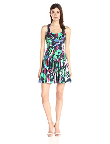 Nicole Miller Women's Tropical Floral Stretch Dress, Multi, (Nicole Stretch Skirt)