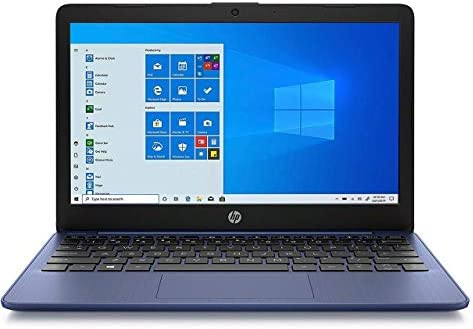 "Newest HP Stream 11.6"" HD(1366x768) Display, Intel Celeron N4020 Dual-Core Processor, 4GB RAM, 64GB eMMC, HDMI, WiFi, Webcam, Bluetooth, Win10 S, Metallic Blue (Renewed)"