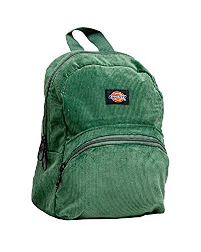 (Dickies Corduroy Mini Backpack Green Solid & Knit Cap Bundle)