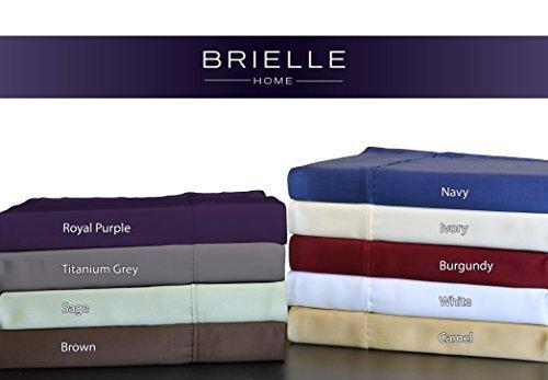 Brielle 100 Percent Rayon Bamboo Sham Standard White