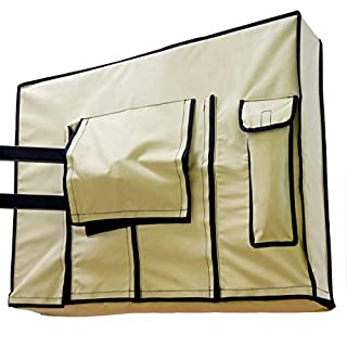 Outdoor TV Cover 52-55 inch Beige - Weatherproof Protection for Flat TVs - Universal for Any Mounts and Stands