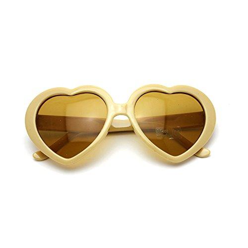 lunettes l'amour de soleil en de Jaune demandé HuaYang cœur très forme rétro 2013 X0wqFFzxnT