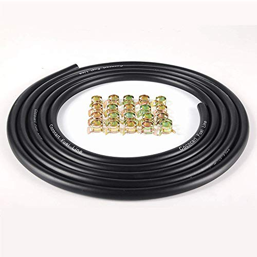 Cococart 9.85-Foot Length Stretchy 1/4 Inch ID Fuel Line+20pcs 2/5