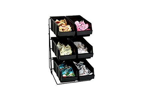 Dispense Rite WR-COND Black Wire Rack Condiment Organizer, 18 3/8 x 11 1/2 x 15 by Dispense Rite