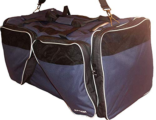 JAMM X-Large Senior Vented Navy and White Hockey Bag with End & Skate Pockets