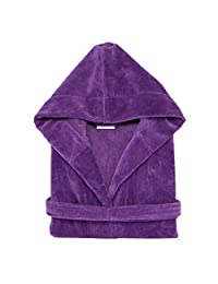 Terry Velour Hooded Bathrobe %100 Cotton Men's Women's Robe Best Gift for Her