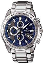 Casio Edifice Men's Ef563d-2avdf Stainless Steel Chronograph Sport Blue Dial Watch