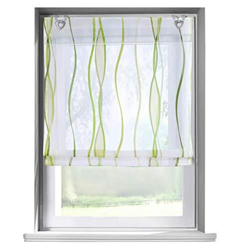 (86 York Roman Shades Sheer Balcony Window Curtain Voile Valance Drape 1 Panel)