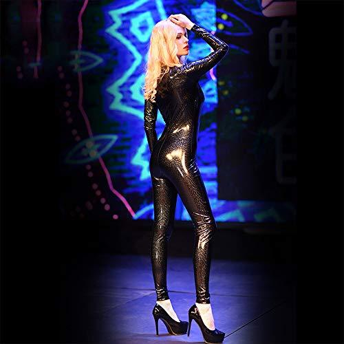 Sexy Disfraces 002 tl Mono Escenario De Emulsión Mujer Jumpsuit Negros Galaxy Xsqr Tight Barra 3d Cuerpo Completo wOZta