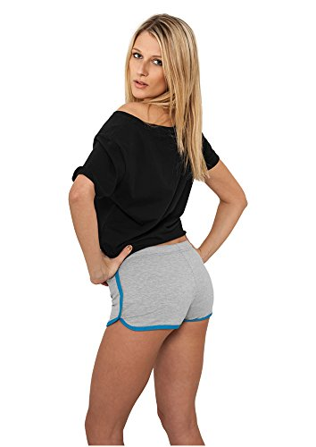 Ladies French Terry Hotpants gry/tur M