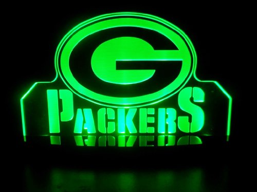 """NFL Green Bay Packers LED Desk Lamp Night Light Beer Bar Bedroom Game Room Signs (3""""x12""""x6 inches)"""