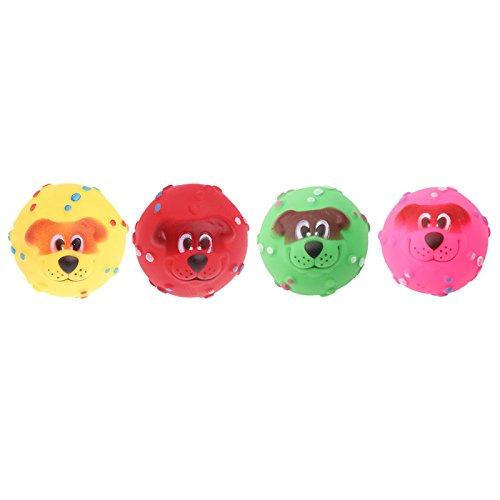 Tandou 1Pieza 7cm Perro kichern Ball Tough Treat Formación kauen Sonido Divertido Juguete quietsch Extremo