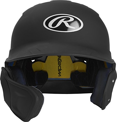 Rawlings MACHEXTL-B7-JR 2019 Mach Baseball Batting Helmet, Matte Black by Rawlings