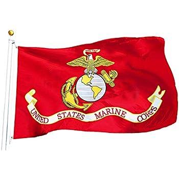 G128 - USMC US Marine Corps Flag 3x5 ft Printed United States Marine Corps  Flag 2 43ae4724368