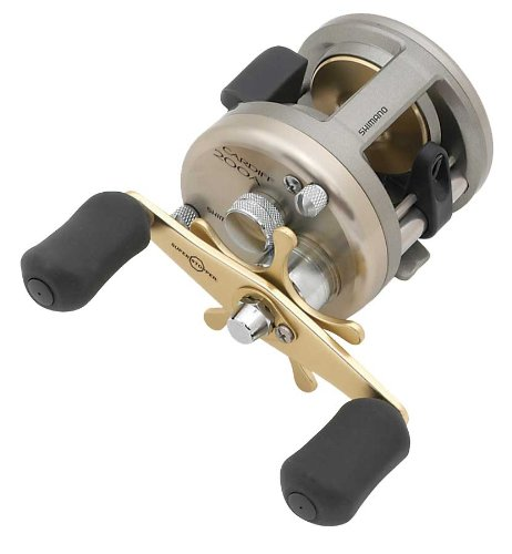 (Shimano Cardiff 200A; Round Freshwater Fishing Reel)