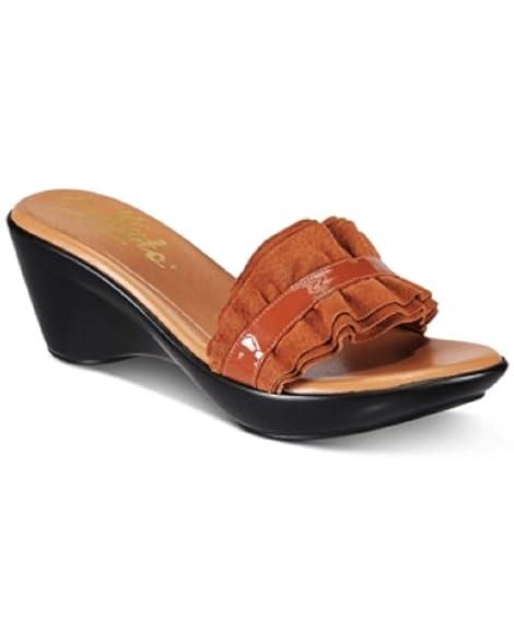 best price classic shoes best wholesaler Amazon.com | Callisto Willow Platform Wedge Sandals Tan 9M ...