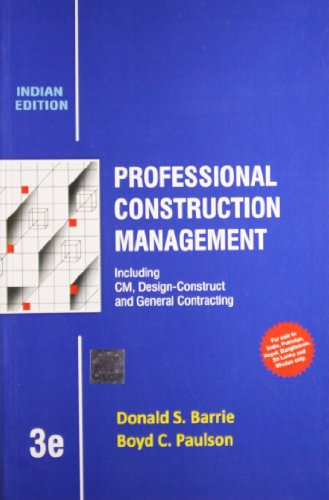 Professional Construction Management 3Rd Edition