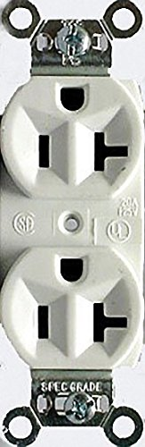 Cooper Wiring Devices Commercial Duplex Receptacle (CR20W-BOX) ()
