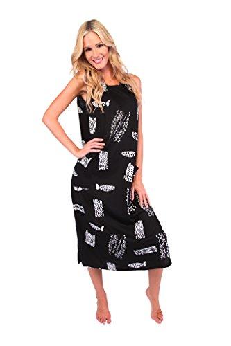 Ingear Beach Summer Shift Dress Long Cotton Tank Dress Cover Up At ...