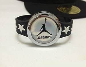 Michael Jordan pulsera de cuero pulsera de moda de joyería colgantes de hip hop