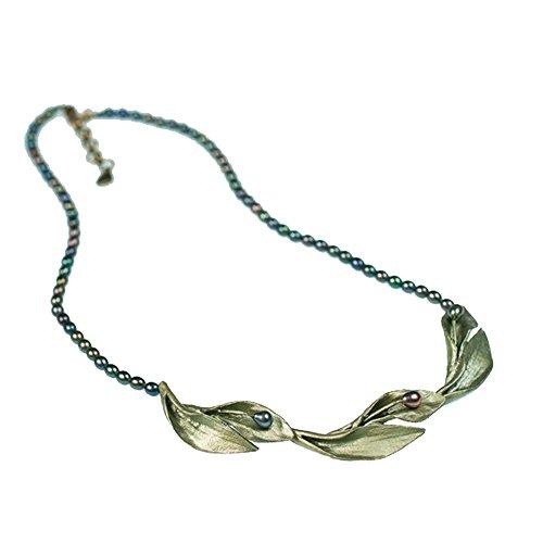 Hosta Pearl Contour Necklace by Michael Michaud #8117